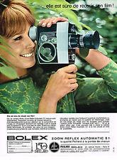 PUBLICITE ADVERTISING  1964   BOLEX  caméra zoom automatic S1