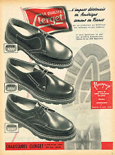 PUBLICITE ADVERTISING 045  1954  CLERGET  chaussures homme FLEXOGRIP