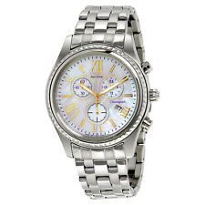 Citizen Eco-Drive Mother of Pearl Chronograph Stainless Steel Ladies Watch