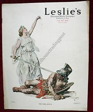 Leslie's Illustrated Weekly February 24, 1916 Thumbs Down /Franklin Car Ad Etc