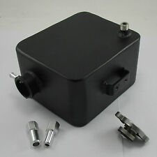 BLACK Aluminum Alcohol Meth Injection Tank Reservoir Supercharger Ford Mustang