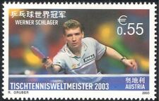 Autriche 2003 walter schlager/tennis de table champion/sports/jeux 1v (at1040)