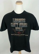 Vtg Harley Davidson Motorcycle T Shirt Legends 2000 XL Black Indiana