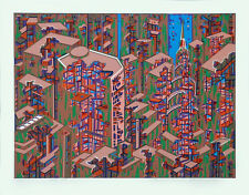 CITY #366 Architecture Translated to Beautiful Art; Serigraph By Risaboro Kimura