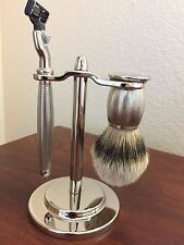 MINT CONDITION!!  Art of Shaving: M3 (Mach 3) Engraved Nickel Plated Shaving Set