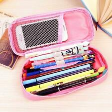 Cute Student Canvas Pencil Case Cosmetic Brush Pen Box Bag Stationery Gifts P TR