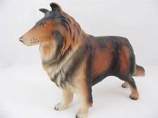 Collie Lassie Dog Vintage Plastic Figurine Toy Dog Puppy Made Hong Kong Sheltie