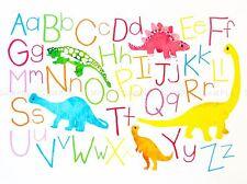 DIPINTI disegno bambini Kids Dinosauro alfabeto colore stampa lv3024