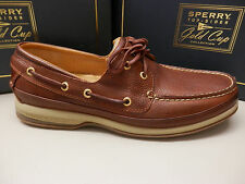 SPERRY TOP SIDER MENS BOAT SHOE GOLD CUP ASV 2-EYE COGNAC SIZE 11 WIDE