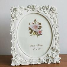 Retro Style White Rose Flower Home Photo Frame Picture Resin 8'' X 10''
