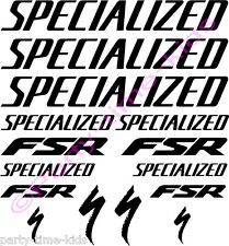 Specialized FSR Mountain Bike Frame Vinyl Decals Stickers choice of colours