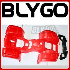 RED Plastic Fairing Fender Guard Cover Kit 110cc 125cc Farm Quad Dirt Bike ATV