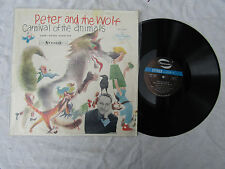 PETER AND THE WOLF CARNIVAL OF THE ANIMALS LP GARRY MOORE / PROKOFIEF stereo