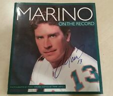 Dan Marino cover SIGNED ON THE RECORD large paperback book MIAMI DOLPHINS Auto