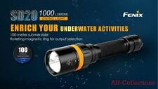 Fenix sd20 LED m linterna diving light Flashlight 1000 lúmenes