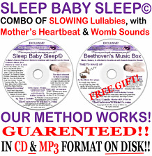SLEEP BABY SLEEP MUSIC BOX ~ CD & mp3 s ~ Heartbeat Womb Sounds LULLABIES Babies