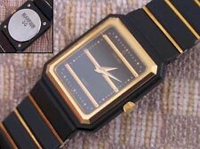 LADIES FULL SIZE STAINLESS & 18K GOLD CONCORD MARINER SG WRISTWATCH (BLACK PVD)