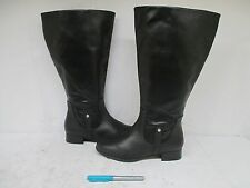 Ros Hommerson Black Fine Leather Riding Zip Boots Size 7.5 W Style H38096