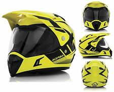 CASCO MOTO MOTARD FRONTINO ACERBIS ACTIVE GRAFFIX GS MULTISTRA GIALLO NERO TG XL