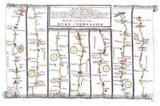 Antiguo Mapa, el camino de Londres a Carlisle Placa 037