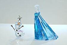 Swarovski Disney 2016 Frozen Elsa and Olaf Set 5135878 5135880 Brand New in Box