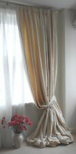 "NEW BESPOKE INTERLINED CREAM,100%COTTON/CURTAINS  96""244CM WIDEX120""305CM LONG"