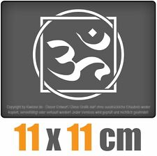 Om caracteres 11 x 11 cm JDM decal sticker coche car blanco discos pegatinas