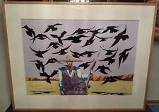 """Thom Ross """"Billy the Kid A Murder Of Ravens"""" Original Painting Acrylic on Paper"""
