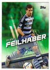 New listing 2016 Topps MLS Autograph Green AUTO /50 Benny Feilhaber Sporting Kansas City