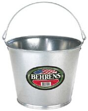 Behrens 1205 5 Quart Galvanized Steel Metal Water Pail Bucket w Handle