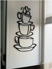 DIY Tasse Café Sticker Mural Pr Décor Cuisine Restaurant Autocollant Imperméable