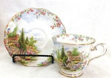 1927-35 Royal Albert England Bone China KENTISH ROCKERY Tea Cup & Saucer Duo Set