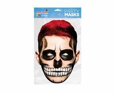 Day of the Dead Red Zombie Male Single 2D Card Party Face Mask - Halloween