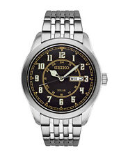 NEW Mens Seiko SNE445 Solar Quartz Stainless Steel Watch Recraft Series Dial