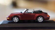 1:43 PORSCHE 911 Carrera 993 red Cabriolet MINICHAMPS cabrio convertible rot