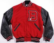 VTG 1994 HOLLOWAY WOOL LEATHER HIGH SCHOOL VARSITY LETTERMAN JACKET JOCK EUC L