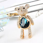 Lovely Bear Butterfly Charm Pendant Rhinestone Crystal Purse Bag Key Chain Gift