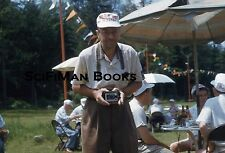 KODACHROME 35mm Slide Handsome Men Party Hats Old Camera Beer Fashion 1960s?