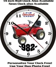 INTERNATIONAL CUB CADET 982 WALL CLOCK-FREE USA SHIP!