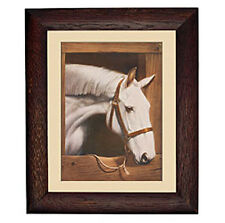 Old Dobbin Horse in Stall Rustic Frame Equestrian Mural Wall Barn Sticker Decal