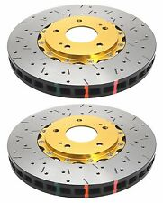 DBA 2008-2015 MITSUBISHI LANCER EVO X FRONT 2-PIECE SLOTTED DRILLED BRAKE ROTORS