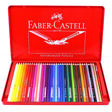 FABER CASTELL 36 Water Color Pencils Set of Art Drawing Painting  Free Brush