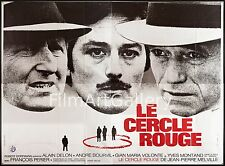 LE CERCLE ROUGE/RED CIRCLE French 94x126 poster Alain Delon Jean-Pierre Melville