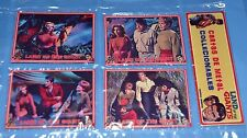 LAND OF THE GIANTS TV SERIE IRWIN ALLEN SET 4 METAL CARD w/PUZZLE ARGENTINA