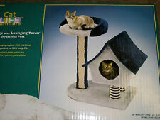Penn Plax CatF6 Cat Life Cottage W/ Lounging Tower & Scratching Post Furniture
