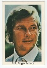 1970s Swedish Film Star Card #512 UK The Saint James Bond actor Roger Moore