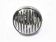 Slotted Grill H4 CHROME Motorcycle Headlight for Streetfighter Naked Rat Bike