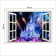 3D Fake Castle Wall Of Setting Of The Sitting Room The Bedroom Window Stickers