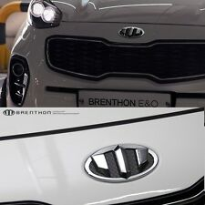 BRENTHON Front & Rear NEW Emblem CHROME for KIA Sportage 2016