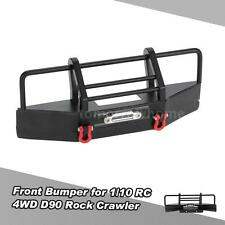 Metal Front Bumper with Trailer Buckle for 1/10  RC4WD D90 RC Rock Crawler A0C6